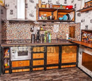 kuhnya loftovaya 01 300x263 - Галерея кухонь из массива
