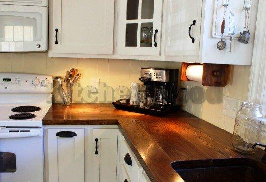 Кухня из дерева в квартиру на заказ