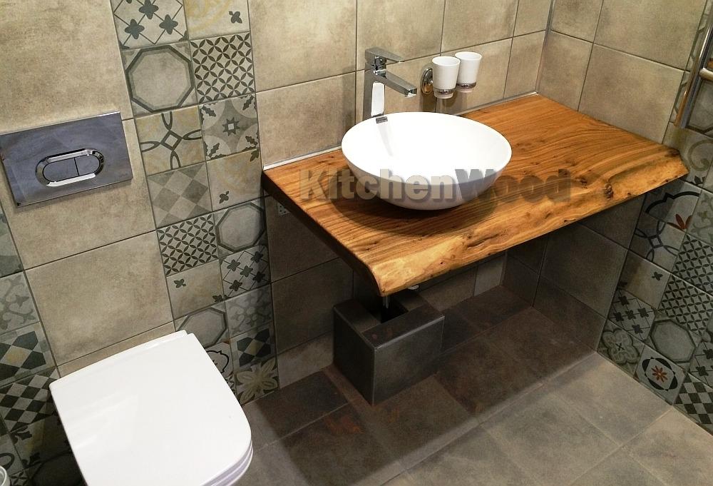 Stoleshnica v vannuju komnatu 2 - Столешница из дерева в ванную