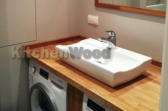 s12 - Столешница из дерева в ванную