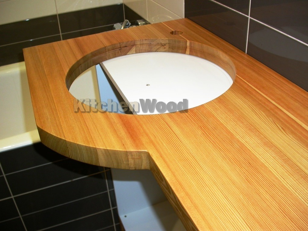 stoleshnica iz dereva 12 - Столешница из дерева в ванную