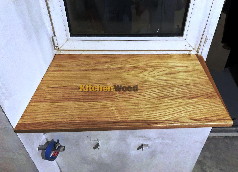 Подоконник из дерева на заказ